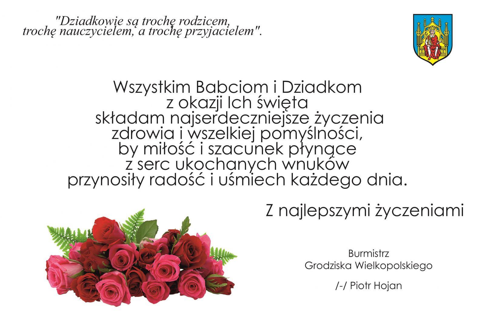 Um Grodzisk Wielkopolski Najlepsze życzenia Dla Babci I
